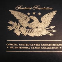 1987 U.S. Constitution - Bicentennial Stamp/Silver Collection By Franklin Mint