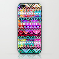 Purple Pink Neon Bright Andes Abstract Aztec Pattern iPhone & iPod Skin by Girly Trend | Society6