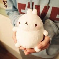 """Molang 4"""" bunny rabbit Plush /w suctioncup In k drama Cute soft toy doll"""