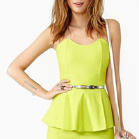 Pop Peplum Romper