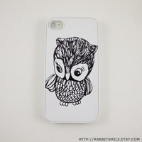 Little Owl iPhone 4 Case iPhone 4s Case iPhone 4 by rabbitsmile