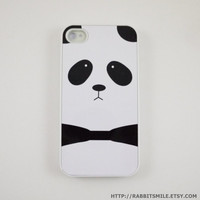 Panda iPhone 4 Case iPhone 4s Case iPhone 4 Cover by rabbitsmile