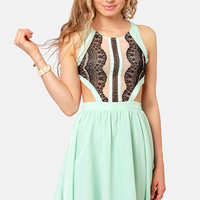 Hotter Than It Looks Mint Lace Dress