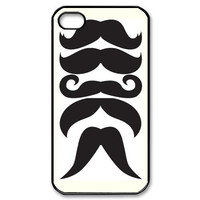 iPhone 4 Case Mustaches iPhone Case Hard Plastic by iShopCases