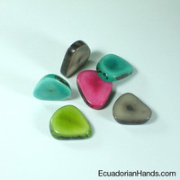 Slice Tagua Beads (1 unit) | Eco Ivory Tagua Beads: Tagua Slices | EcuadorianHands.com