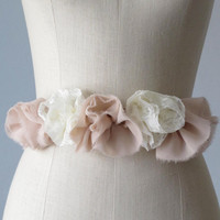 lace sash belt  for bride, bridesmaid ,flower girl personalize your color and style,mismatched bridesmaid  accessories