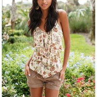 TIERED V-NECK CAMI
