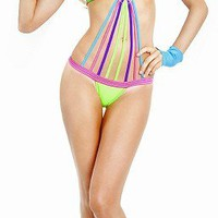 Body Language Neon Rave 333/N Strappy Romper Sexy Go Go Dancer Set Wholesale Supplier FREE SHIPPING