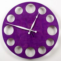 POP Clock in Purple Large by whitevan on Etsy