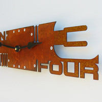 Outnumbered Clock VI Rust by All15Designs on Etsy