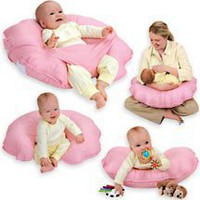 Cuddle-U Infant Support Cushion by Leachco , Pink Dots