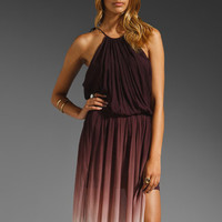 Young, Fabulous & Broke Yosemite Ombre Dress in Burgundy from REVOLVEclothing.com