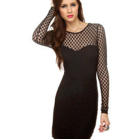 Motel Elsa Rose Dress - Black Dress - Lace Dress - Long Sleeve Dress - $79.00