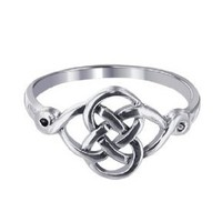 Sterling Silver Polished Finish 10 x 20mm Celtic Rounded Knot Design 2mm Wide Band Ring Size 5, 6, 7, 8, 9, 10