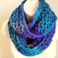 Ladies Extra Long Caribbean Scarf in Shades by ByTheLakeCrochet