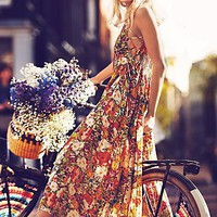Free People Free People FP ONE Criss Cross Florals Maxi Dress
