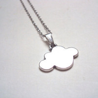 Cloud Necklace, Antique Silver - Summer - simple everyday jewelry