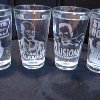 Arrested Development 16 oz Glasses Set of 4 by geekyglassware