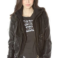 Obey The Jealous Lover Jacket in Vintage Goat Black