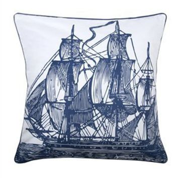 "Ship 18"" Accent Pillow in Ink - Thomas Paul 