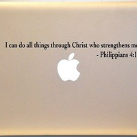 Macbook Philippians 4:13 Bible Verse Decal Mac Laptop