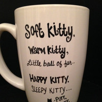 SOFT KITTY Big Bang Theory Inspired Mug, Yellow and White