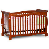 Baby Relax - Bethany James Secure Reach 4-in-1 Sleigh-Styled Crib, Walnut