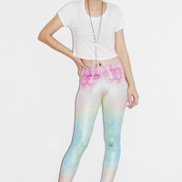 Hot items a new sweet gradient pastel peace print leggings fashion for women