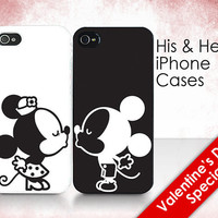 LAST BATCH His &amp; Hers Cases - &quot;Mickey and Minnie Kissing&quot; - 2 iPhone Covers