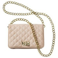 XHILARATION Blush Small Quilted Crossbody