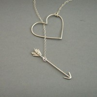 Heart and Arrow Necklace by bbel on Etsy