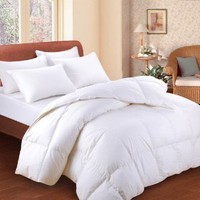Amazon.com: Bedding White Feather Down Bed Comforter - Twin Size: Home & Kitchen