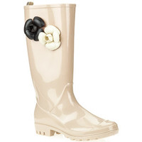 Walmart: Women's Shiny Solid Jelly Flower Rainboots