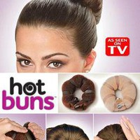 2 pc set HOT BUNS 1 large & 1 small hair style bun maker AS SEEN ON TV US Seller
