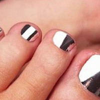 Silver Nail Wraps - Modicure - Manicure Nail Wraps and Nail Foils