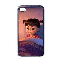 Monster Inc V1 iPhone 4 / iPhone 4s Black Designer Shell Hard Case Cover Protector Gift Idea