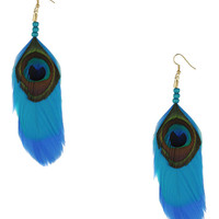 Peacock Feather Earrings | FOREVER21 - 1000036779