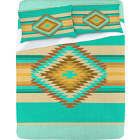 DENY Designs Home Accessories | Bianca Green Fiesta Teal Sheet Set