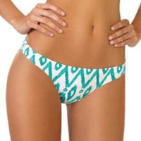 Ondademar Maldives Scoop Bottom in Aqua Ikat Print (L)