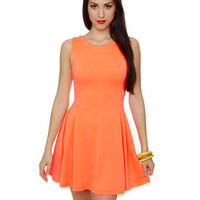 Radiant Neon Orange Dress - Neon Dress - &amp;#36;34.00