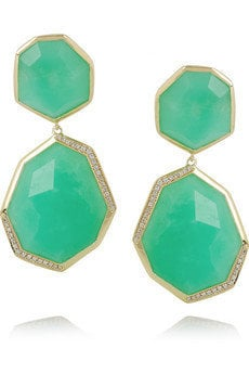 Ippolita|Modern Rock Candy 18-karat gold, chrysoprase and diamond earrings|NET-A-PORTER.COM