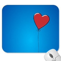 Red Heart Balloon Mousepad from Zazzle.com