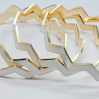 Chevron 4 Piece Set Bangles
