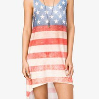 High-Low American Flag Dress