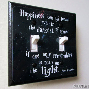 DOUBLE SWITCHPLATE Harry Potter   Dumbledore Quote by DeeplyDapper