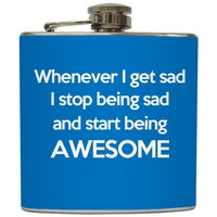 "Liquid Courage Flasks: ""Awesome"" - Funny Custom Color Flask"