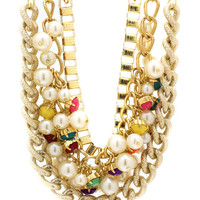 embellished-layered-chain-necklace-set GOLDMULTI - GoJane.com