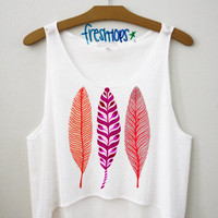 Feathers Croptop | fresh-tops.com