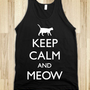 Keep Calm And Meow (tank) - Galaxy Cats