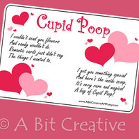 Cupid Poop Valentines Day Gag Gift Design DIY by ABitCreativeAMP
